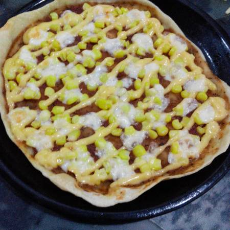 Resep Pizza Corn Spicy Mayo