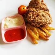 Chicken Oat with Fries