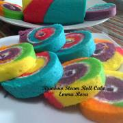 Resep Rainbow Steam Roll Cake