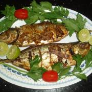 Resep Baked Whole Fish in Garlic-Chili Sauce